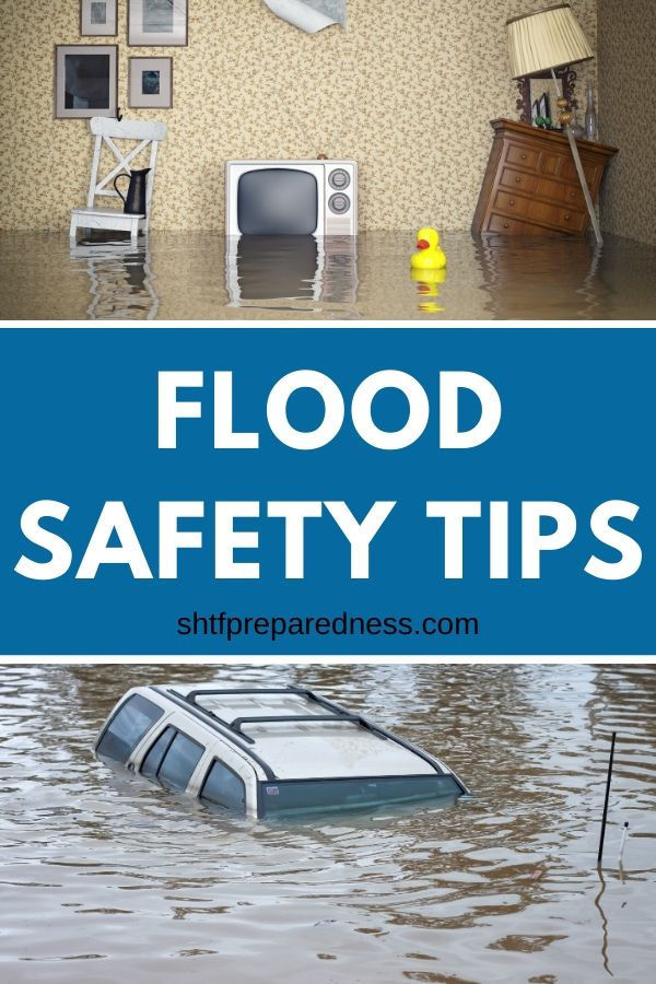Protect your home and family with these flood safety tips. A few precautionary measures will go a long way during storms and rainy season. #floodsafety #safetytips #rains #storms #survival #preparedness #shtf