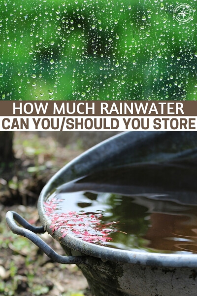 How Much Rainwater Can You - To determine the amount of storage that is appropriate for you, you need to know how much rainwater you can collect from your roof and the amount of water you will need. When calculating how much water you are going to need, you will want to really think about what you want to use the water for and what conservation methods you can incorporate.