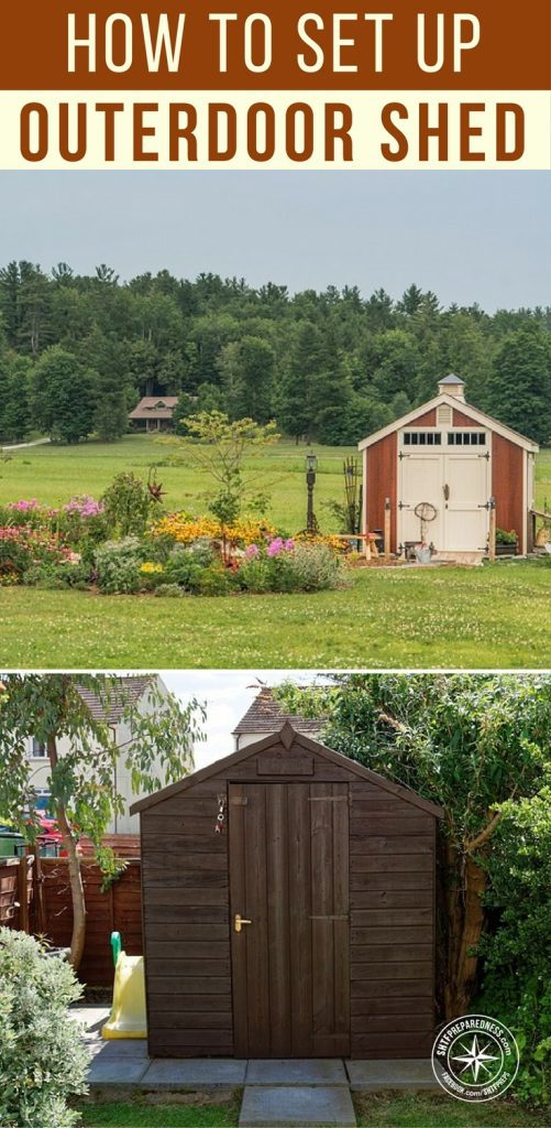 """How We Set Up """"Our"""" Outdoor Shed! - The only thing that would make this small structure any cooler would be a well disguised hatch that led to your survival bunker. Even on its own its a project worth considering, mimicking or using as inspiration for your own storage area."""