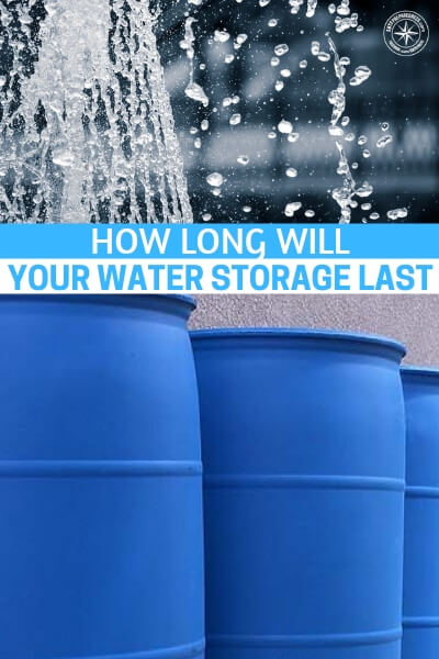 Long Term Water Storage: How Long Will Your Water Storage Last - According to the U.S. Geological Survey, the average American uses 80 – 100 gallons of water per day! In fact, over 410 billion gallons of water are withdrawn from the country's water supply each day!