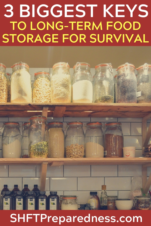 The 3 Biggest Keys to Long-Term Food Storage for Survival - You must have a plan and an understanding of how you are going to feed your family in the event of disaster. This plan should be diverse.