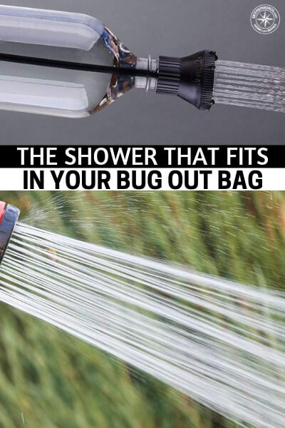 The Shower that Fits in your Bug Out Bag - Designed as a lightweight alternative to the much heavier solar showers, the Simple Shower weighs in at under an ounce and is a great addition to the bug out bag where every ounce matters.