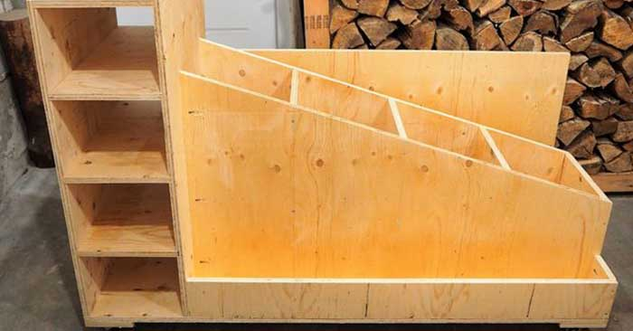 The Ultimate Lumber Storage Cart - When you are storing wood you always have the issue of where and how to store it. Even more is how to travel with that wood.