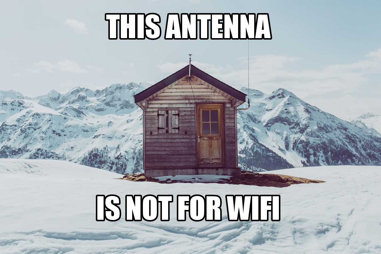 This antenna is not for WiFi