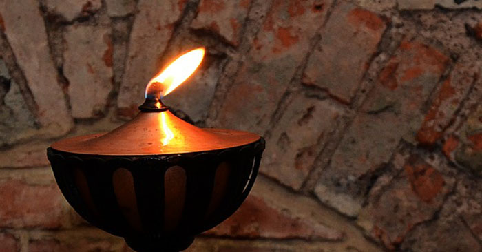 Homemade Vegetable Oil Lamp - This article is a step by step how to on creating a homemade oil lamp yourself. This is an interesting little project that gives you some options in the dark. My philosophy on survival is that you want as many options as possible. T