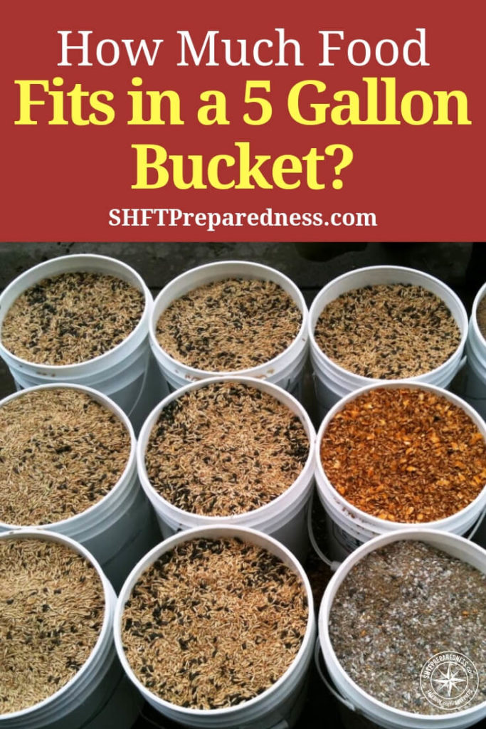 How Much Food Fits in a 5 Gallon Bucket? - When I first got into prepping I was into the idea of super pails. These were 5 gallon buckets filled with dried food storage.