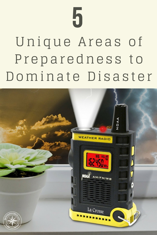 "Invest in These 5 Unique Areas of Preparedness to Dominate Disaster - Some of these ""investments"" will cost actual money and others will be reviews and decisions based on your current process or lack of process."