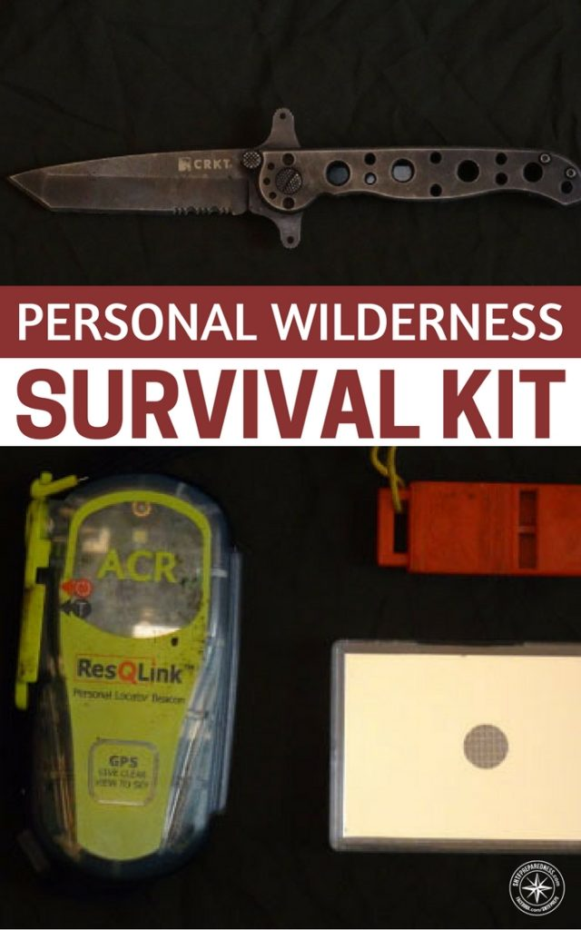 Personal Wilderness Survival Kit [For Pros] - This article takes a stab at a minimalist pack that would be best suited for someone who knows what they are doing in the woods.