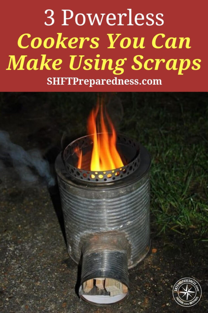3 Powerless Cookers You Can Make Using Scraps — If SHTF, the power will obviously go out, the gas will stop and you will end up starving or adapting. Over at thesurvivalmom.com they have 3 powerless cookers you can make very easily and actually work really well.