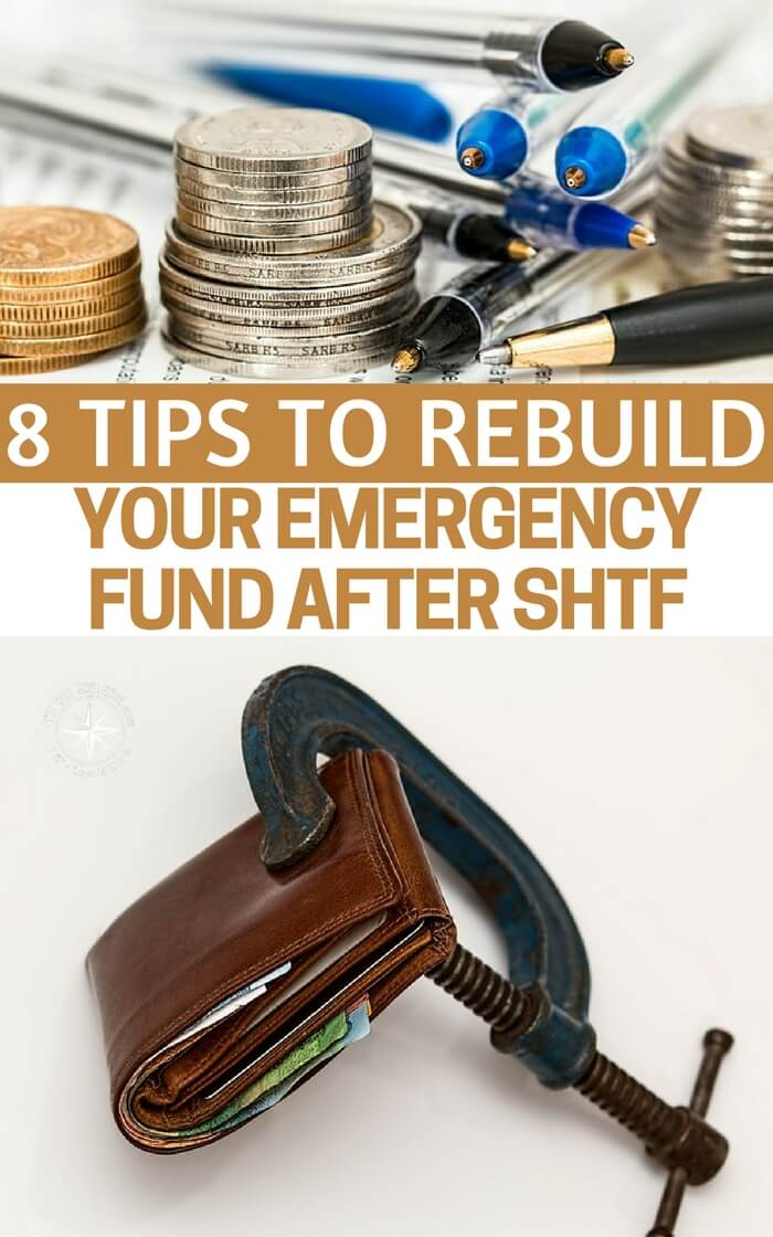 8 Tips to Rebuild Your Emergency Fund After SHTF - Whether you're facing an unexpected financial emergency or have just overcome the horrors of a hurricane, flood or another natural disaster; employing the above tips can help you get back on track and more importantly, back to being prepared.