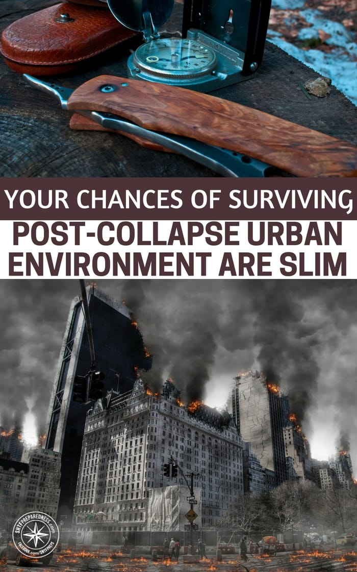 Your Chances of Surviving a Post-Collapse Urban Environment are Slim -- We all are in this thing to survive. There is no getting around it. We are collecting items and skills to handle the very worst case scenario. Now, all that preparation comes down to decision making.