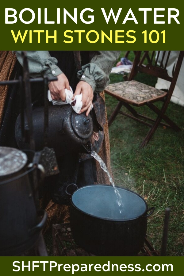 Boiling Water With Stones 101 — What if you were in a survival situation, and the only container you had could not be placed over a fire? Either it will melt, or if heated with a flame, it would leach toxins into the water.
