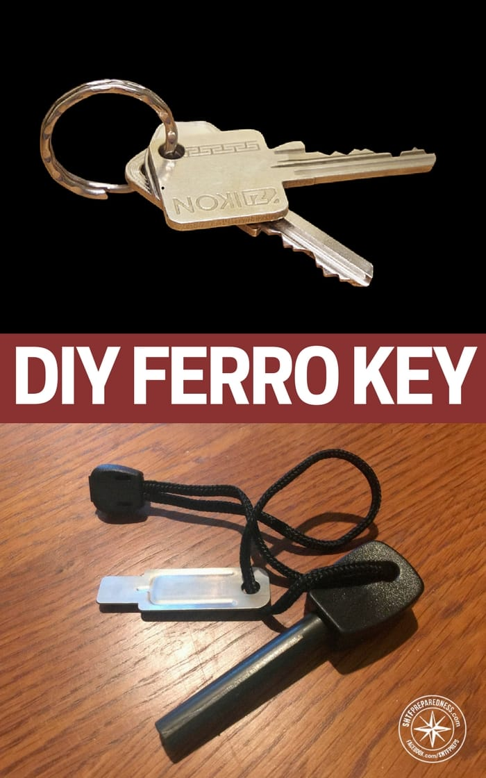 DIY Ferro Key - The idea that you could have a fire starter on your key ring and it would look just like a key is pretty impressive. I am sure as time goes on this model will be recreated and made more efficient.