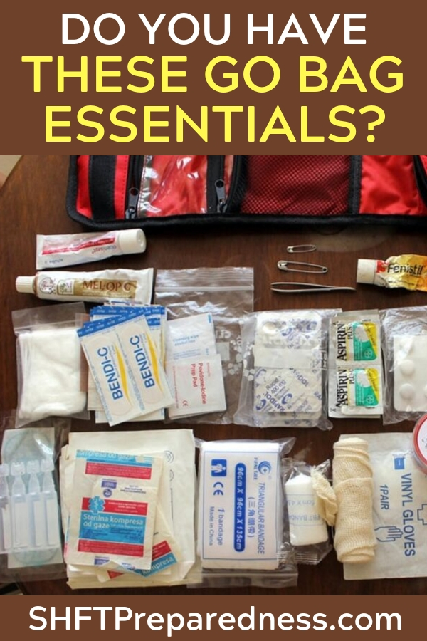 "Do You Have These Go Bag Essentials — If you've never heard about a ""go bag"" before, that's because people are focused on surviving long-term disasters... which is why they talk so much about bug out bags."