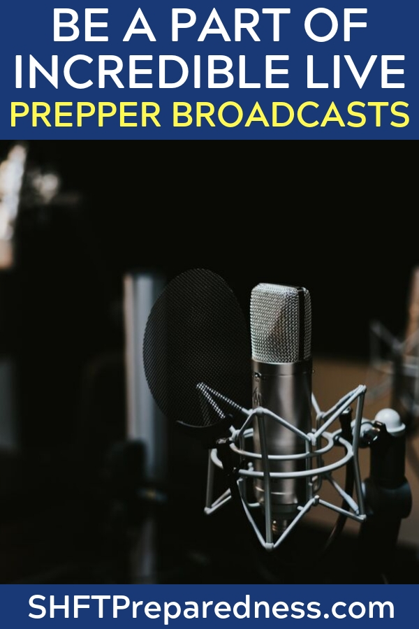 Be a Part of Incredible Live Prepper Broadcasts -- Are you looking for prepper content? There are lots of podcasts out there. I am gonna be honest. Some are a little hard on the ears. I like to get up to date information and witty banter about the issues that we face as a nation.