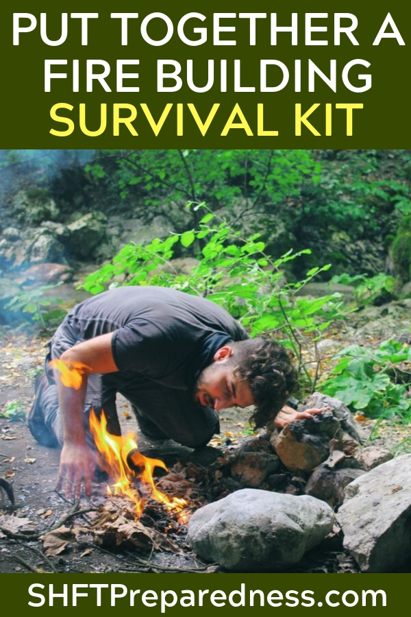 Put Together a Fire Building Survival Kit - This article focuses on putting together a fire building survival kit. While you might think a bic lighter is all you need to get fire going you would be surprised at what you could face in adverse situations.