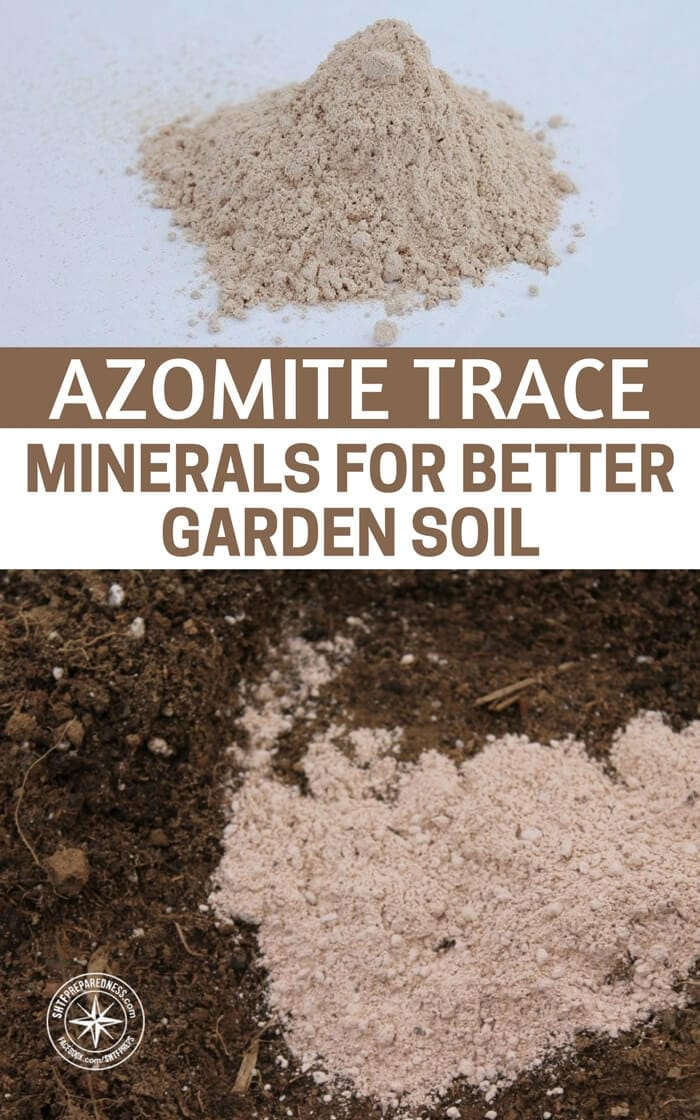 Azomite trace minerals for better garden soil for What are soil minerals