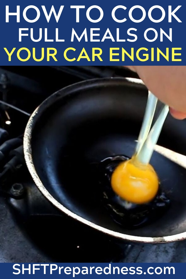 Do you know to cook full meals on your car engine? Thinking outside of the box in a survival situation is needed if you want to thrive and survive. If the power goes out or you really need a hot meal while traveling to your bug out location or just want to be different and use the heat that your car engine produces this is for you. You may think it is unsanitary and you wouldn't be able to cook anything, you are wrong. This actually works in a pinch and works well.