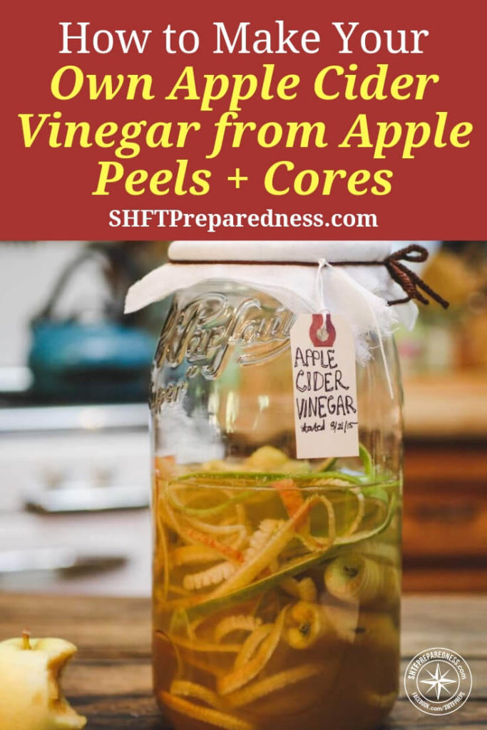 How to Make your Own Apple Cider Vinegar from Apple Peels + Cores - Now, you might think that producing apple cider vinegar would be something that required high tech equipment and maybe even some sort of manufacturing line. Well, if you were looking to do it en mass you might be right. The truth is if you have a ball jar and some apples you can basically get the party started.