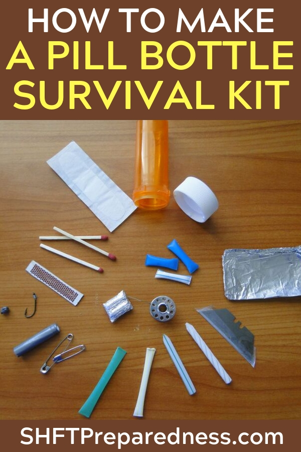 The covert survival kit is something that all preppers should have on hand. Whether you keep it in your desk at work or in your car, you never know when you might need the contents.  We all know that any survival kit is better than no kit at all, that's why I love the Altoid tin survival kits and now my new favorite, the pill bottle survival kit.