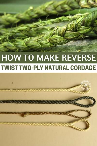 How to Make Reverse Twist Two-Ply Natural Cordage - This article will show you how to go about creating powerful cordage that will allow you to build, trap, fish and many other things in the wild. There is a point where urban survival blends with the natural world. The suburbs, which are filled with people, have lots of these wooded areas. These are skills you should know.