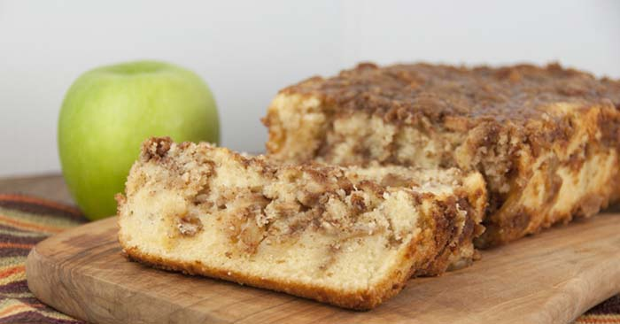 Tis' the season and all that! The Fall has always been a time of apples and cinnamon, in my house anyway. There are many different ways that you can make a simple cinnamon apple bread. There are probably 1000 recipes out there!