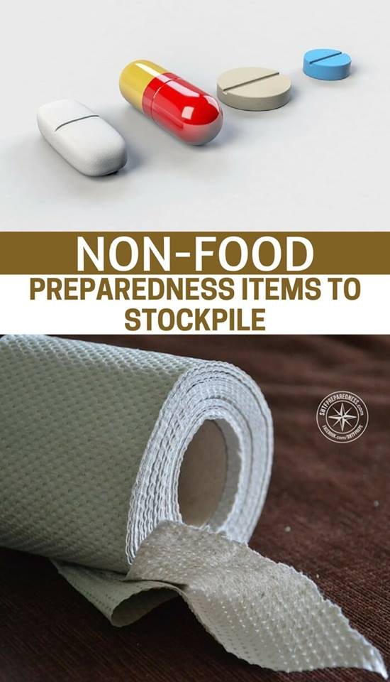 Non-Food Preparedness Items To Stockpile   — I am not sure if (or when) a natural or man made disaster may hit our area but we wanted to make sure we have the necessities of life in our home. Who knows how long the power, gas, phone lines, grocery stores will be shut down following an emergency situation.