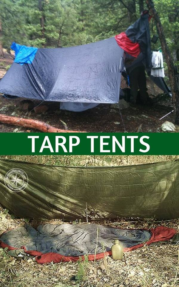 Tarp Tents — There is only so much room in your survival kit. You may think that a tent is necessary. You will be surprised at what you can pull off with a simple tarp. These tarps are incredible for assuring you have a way to make a number of shelters.