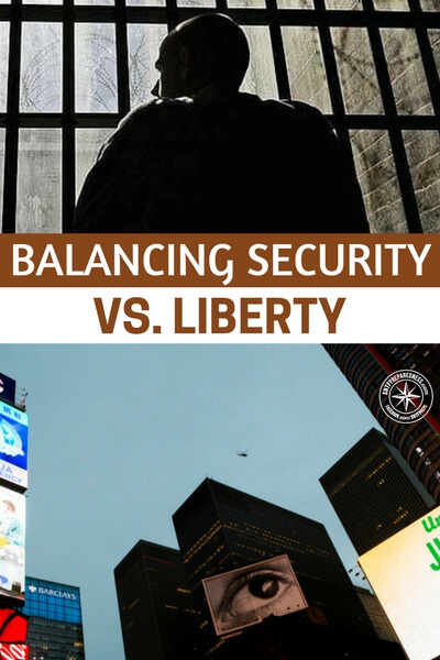Balancing Security vs. Liberty - That is where it all gets fuzzy. As this nation grows and immigration is hardly monitored we will see a time when threats are more severe. What are you willing to give up for safety?
