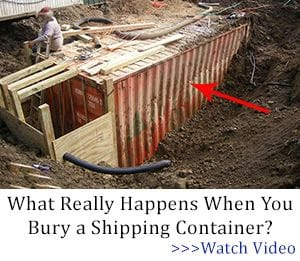 What really happens when you bury a shipping container?