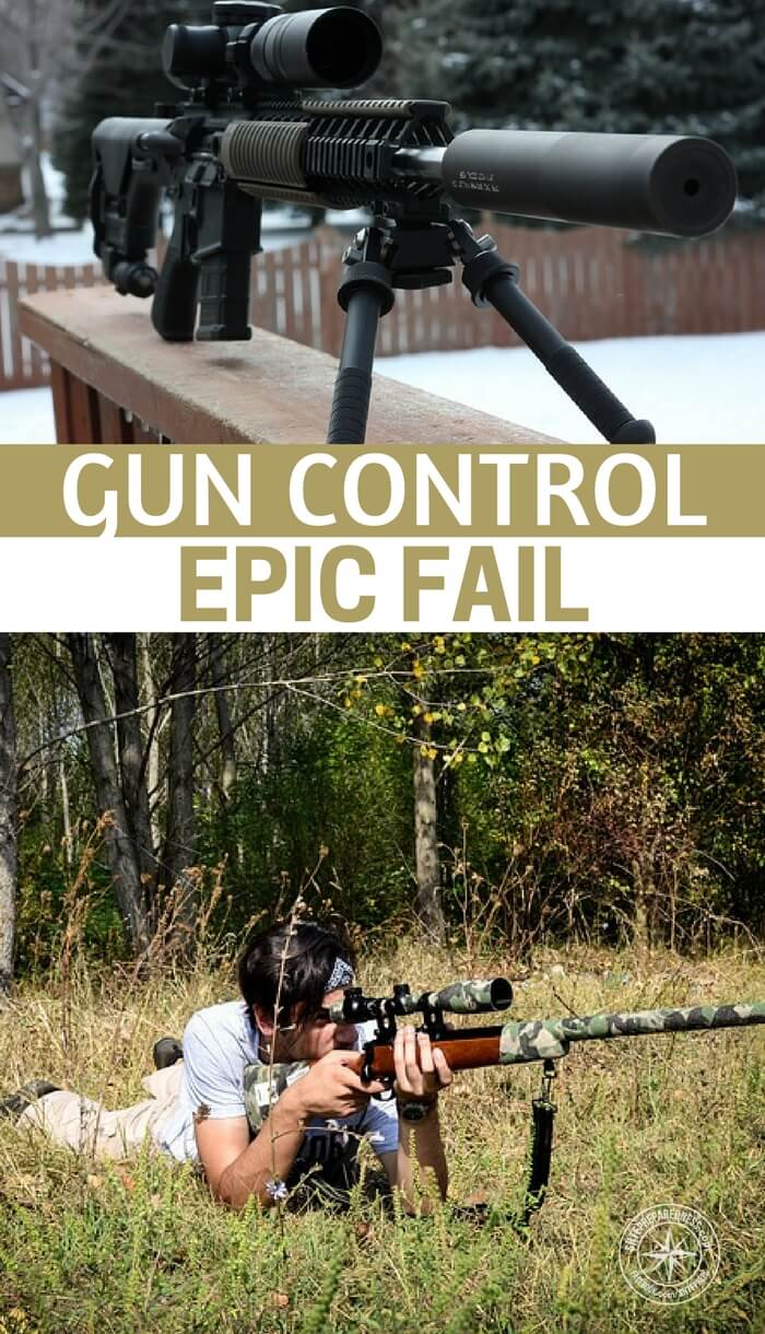 Gun Control Epic Fail - There are people who are terrified of guns and they will stop at nothing to get them out of public hands. Most of this fear is due to a misunderstanding. It would seem that all of the biggest and most grizzly shootings are perpetrated by people who have had their minds manipulated.