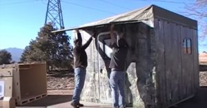 Low Cost Bug Out Shelter That Can Be Assembled By 2 People In Under 30 Minutes - If you are looking for an affordable shelter that you can put quickly in the event of a disaster when SHTF, look no further. CompassionShelters 'Bunkhouse' model is a snap-together solution that requires no tools to erect, and can be assembled by two people in 30 minutes.