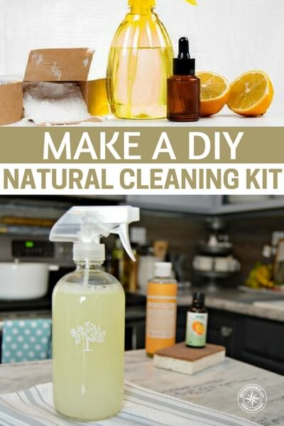 Make a DIY Natural Cleaning Kit - This article is a very interesting look at how to create your own cleaning kit. We are living through an absolute informational barrage. Never before in history are we going have a time when so much change is made and people will be better for most of it. Its important that we know the reality of the chemicals that we put in our home and use to clean our home.