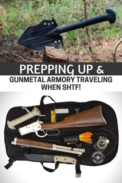 Prepping Up & Gunmetal Armory traveling when SHTF! -  This is a short into article and also a powerful podcast. These two men have a great base of knowledge and together they are putting something important for all Americans to hear about. We cannot take everything with us when we travel but we must be able to get home safe. What are the skills and tools you need to return home or to get out of dodge when things start to fall apart.