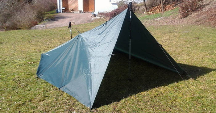 how to make a wall tent from tarp