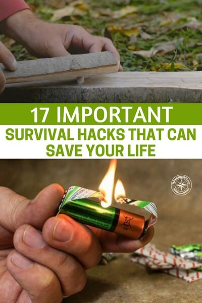 17 Important Survival Hacks That Can Save Your Life - What we have here is a set of hacks that all pertain to the survival world. For many preppers their plans can only be left in the periphery. Because of work and family along with other things there  is little time left for many preppers to battle on in the right direction or any direction at all. What  I hope is that some of these hacks will make prepping easier for you.