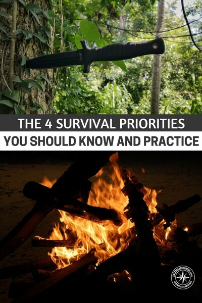 The 4 Survival Priorities You Should Know and Practice - One constant about survival is that it all comes down to priorities. How you align your priorities in any survival situation will dictate your success. A simple example is making shelter. If you aren't working on shelter before the sun goes down there is a big chance you will have a rough night. If you are in a cold environment it could cost you your life.