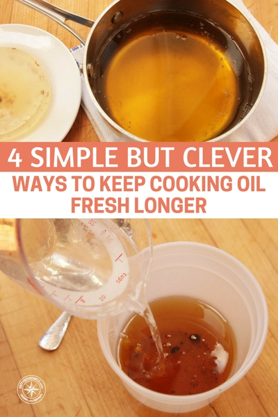 4 Simple but Clever Ways to Keep Cooking Oil Fresh Longer - There is a lot to consider when it comes to storing cooking oil These things can go rancid and some oils can even become dangerous if they have things like garlic floating in them.