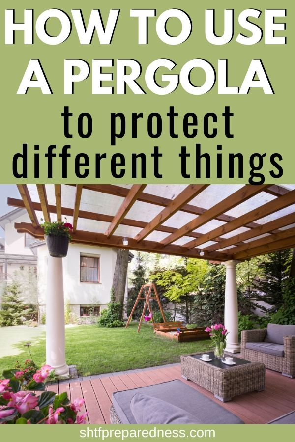 How to use a pergola to protect different things #pergola #outdoorspaces #landsaping #weatherprotection