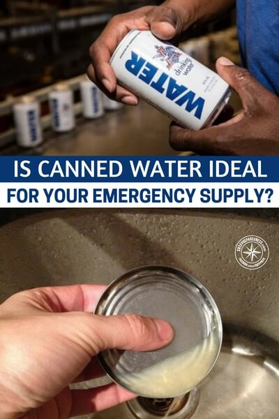 Is Canned Water Ideal for Your Emergency Supply? - This article is an in depth look at this strange option for water storage. If you every looked at canned water and tilted your head a bit, this article is worth checking out. If you are looking at canned water and thinking it might fit perfectly in your storage plans, check this article out.