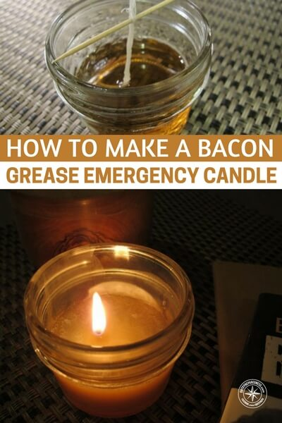 How to Make a Bacon Grease Emergency Candle - How about using all that bacon grease as a means to create light? Would you have ever imagined that that grease, in the ball jar on your counter, could be used for anything other than applications of the culinary kind? That is whole reason we practice and do what we do, so when the time comes we can make miracles happen and make like out of bacon grease.