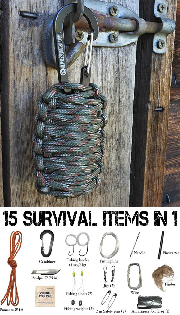 15-in-1 compact survival kit