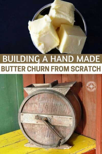 Building a Hand Made Butter Churn From Scratch - If you are looking for a way to churn some cream up into butter, in bigger batches than the kitchen aid can produce, this is the way to go. This design is just like the old school butter churn and to be honest, there is something very warm about having one of these on premises. its goes beyond mere nostalgia.
