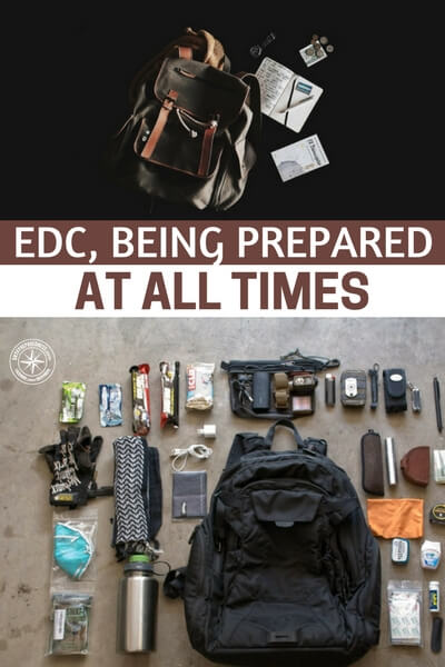 EDC, Being Prepared at All Times - This three tiered approach is worth discussing briefly. You see, the EDC should be everything you need to get to your vehicle and your Get Home Bag. Your Get Home Bag should be enough to get you to your home. From there you have many more resources and options to react to disaster.