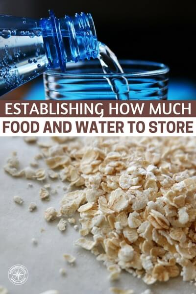 Establishing How Much Food And Water To Store - Most people do not make the necessary calculations and end up creating more problems than they solve. You need to make sure that you have considered all the things you need to take into account and this article provides the information necessary to make these decisions and gives you all the points you need to take into account.