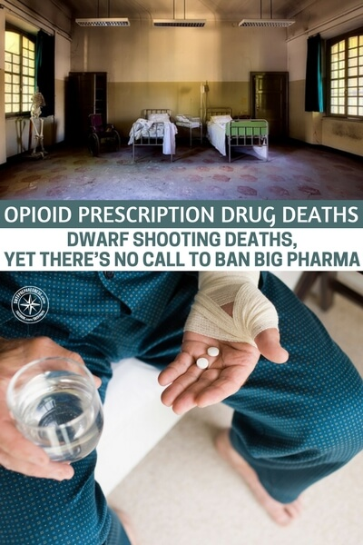 Opioid Prescription Drug Deaths Dwarf Shooting Deaths, Yet There's No Call to Ban Big Pharma - This article takes a look at the outcry to ban AR15's after deadly school shootings and the reality that Americans are being thrust into addiction everyday thanks to the quantities of opioid prescription drugs that are being made in this country.