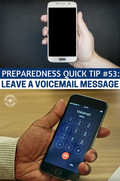 how to leave a voicemail without calling iphone preparedness tip 53 leave a voicemail message 8265