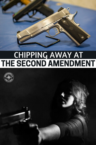Chipping Away at the Second Amendment - This article is about the assault that is always ongoing. That is, the assault on our right to bear arms. No matter what society looks like this right has to be kept intact. Its vital to freedom and liberty.