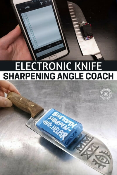 Electronic Knife Sharpening Angle Coach - To get it right the first time and every time, this creation will tell you if your angle is right or not on each swipe across the stone. Before long you will have it down to a science. Tech like this can teach. Don't shut it out.