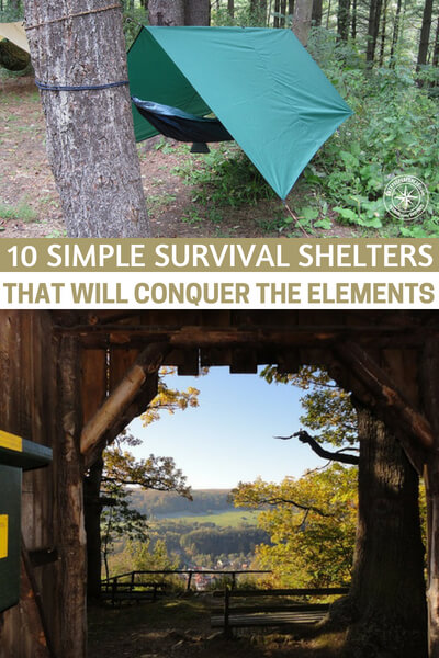 10 Simple Survival Shelters That Will Conquer The Elements - Shelter making is not easy. Well, that is a subjective thing to say. This article will offer you 10 simple survival shelters that will conquer the elements.  I will caution you on one thing and that is the idea that you must be able to build the shelters and not simply have read the article.